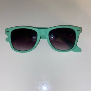 Mint green sunglasses from Claire's